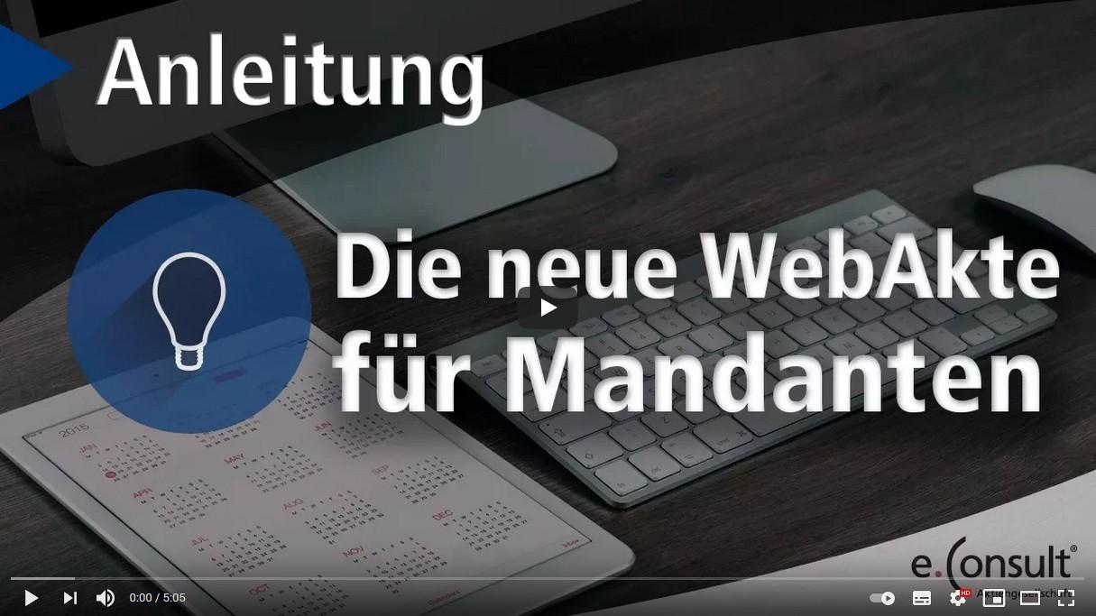 Video-Anleitung WebAkte